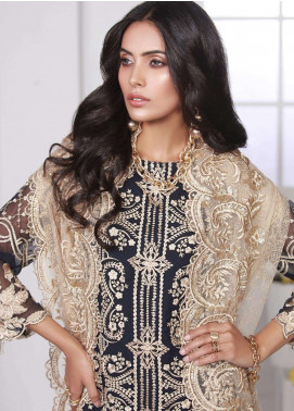 Azure Embroidered Chiffon Unstitched 3 Piece Suit AZE18C 10 - Luxury Collection