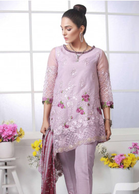 Azure Embroidered Organza Unstitched 3 Piece Suit AZU19E 05 IMPERIAL MIST - Eid Collection