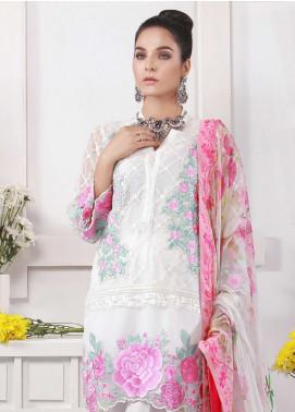 Azure Embroidered Chiffon Unstitched 3 Piece Suit AZU19E 06 FLORAL MANIA - Eid Collection