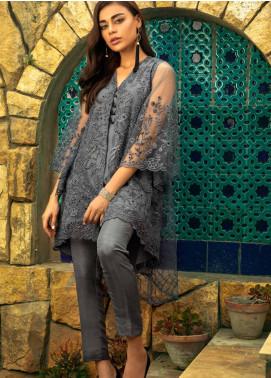 Azure Embroidered Zari Net Unstitched Kurties AZU19-E4 03 SUBTLE MIST - Luxury Collection