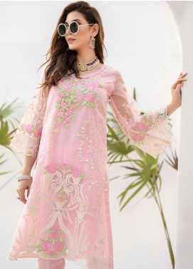 Azure Embroidered Organza Unstitched Kurties AZU19-E3 07 BREEZY BERRYL - Luxury Formal Collection