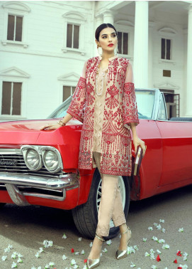 Azure Embroidered Net Unstitched Kurties AZU20LF 02 SCARLET VIBES - Luxury Collection