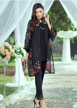 Azure Embroidered Organza Unstitched Kurties AZU20LF 06 MYSTERY VIBES - Luxury Collection