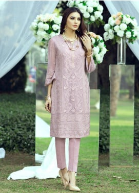 Azure Embroidered Chiffon Unstitched Kurties AZU20LF 07 ENCHANTING GRACE - Luxury Collection