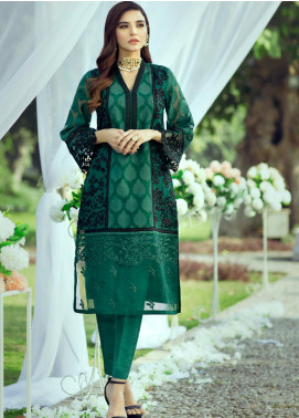 Azure Embroidered Organza Unstitched Kurties AZU20LF 08 REGAL GLORY - Luxury Collection