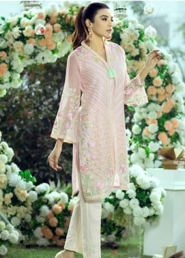 Azure Embroidered Organza Unstitched Kurties AZU20LF 11 CEDAR MIST - Luxury Collection
