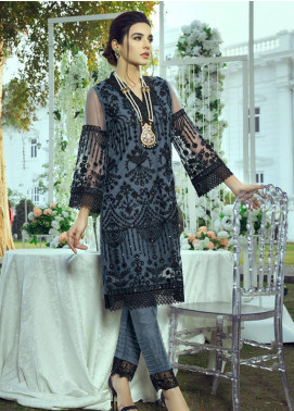 Azure Embroidered Net Unstitched Kurties AZU20LF 12 MAGICAL VINES - Luxury Collection