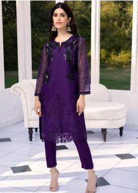 Azure Embroidered Organza Unstitched Kurties AZU20-LF2 04 Colour Blaze - Luxury Collection