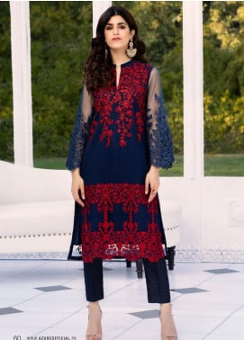Azure Embroidered Net Unstitched Kurties AZU20-LF2 10 Botonic Array - Luxury Collection