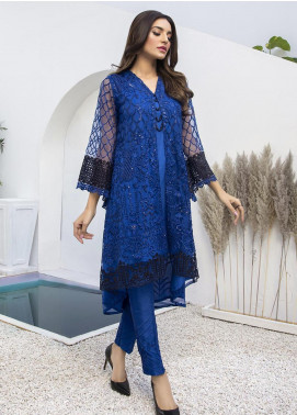 Azure Embroidered Net Unstitched Kurties AZU21FK 05 Glitzy Glimmer - Luxury Formal Collection