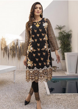 Azure Embroidered Organza Unstitched Kurties AZU21FK 08 Blossoms - Luxury Formal Collection