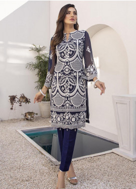 Azure Embroidered Chiffon Unstitched Kurties AZU21FK 10 Royal Whims - Luxury Formal Collection