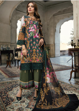 Azure Embroidered Lawn Unstitched 3 Piece Suit AZU20P Emerald Charm 01 - Luxury Collection