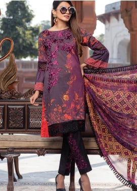 Azure Embroidered Lawn Unstitched 3 Piece Suit AZU20P Glitzy Glam 04 - Luxury Collection