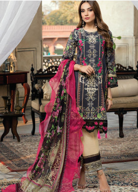 Azure Embroidered Lawn Unstitched 3 Piece Suit AZU20P Midnight Allure 06 - Luxury Collection
