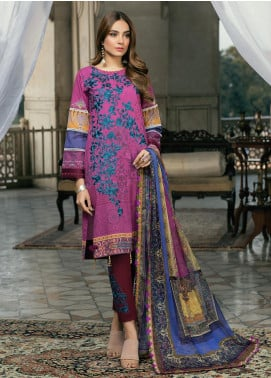 Azure Embroidered Lawn Unstitched 3 Piece Suit AZU20P Rough Blush 08 - Luxury Collection