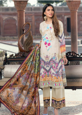 Azure Embroidered Lawn Unstitched 3 Piece Suit AZU20P Serenity 05 - Luxury Collection