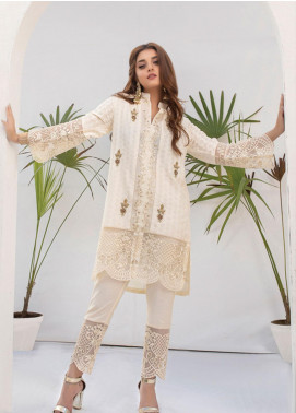 Azure Embroidered Chiffon Stitched 2 Piece Suit AZU19P 02 FROSTY VIBES