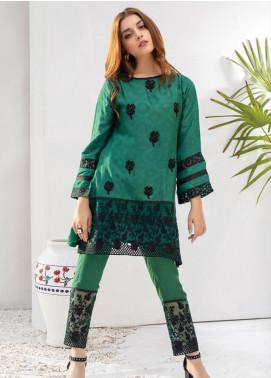 Azure Embroidered Chiffon Stitched 2 Piece Suit AZU19P 05 ELEANOR GLOW
