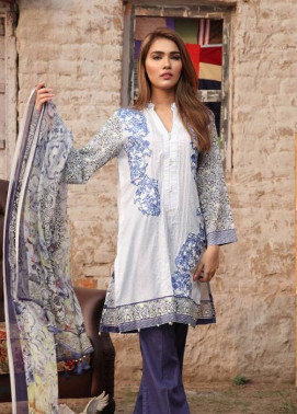 Bashir Ahmed Embroidered Lawn Unstitched 3 Piece Suit BA17E 6B