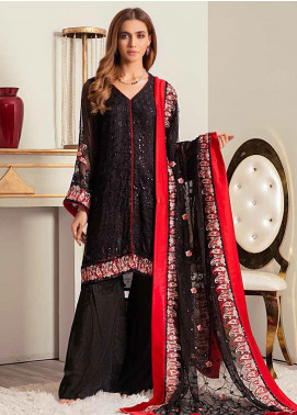 Banafsheh Embroidered Chiffon Unstitched 3 Piece Suit BF20LC 03 - Luxury Collection