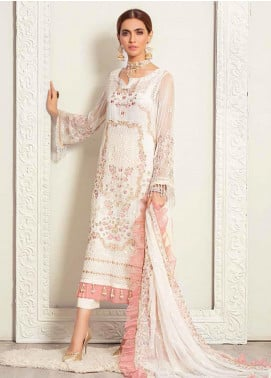 Banafsheh Embroidered Chiffon Unstitched 3 Piece Suit BF20LC 04 - Luxury Collection
