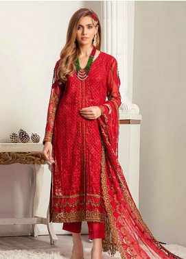 Banafsheh Embroidered Chiffon Unstitched 3 Piece Suit BF20LC 05 - Luxury Collection