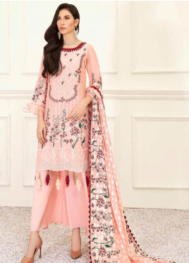 Banafsheh Embroidered Lawn Unstitched 3 Piece Suit BF20F D-03 - Luxury Collection