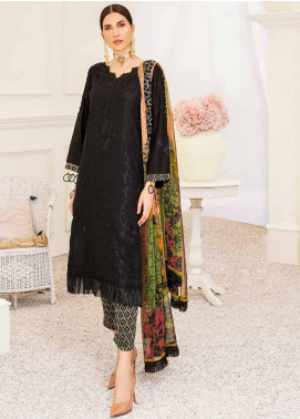 Banafsheh Embroidered Lawn Unstitched 3 Piece Suit BF20F D-04 - Luxury Collection