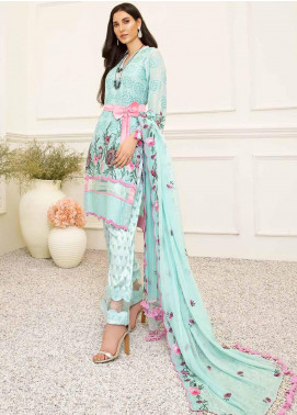 Banafsheh Embroidered Lawn Unstitched 3 Piece Suit BF20F D-05 - Luxury Collection