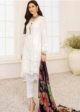 Banafsheh Embroidered Lawn Unstitched 3 Piece Suit BF20F D-06 - Luxury Collection