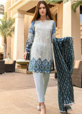 Banafsheh Embroidered Lawn Unstitched 3 Piece Suit BF20L 1 - Luxury Collection