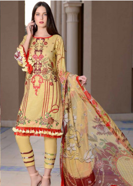 Banafsheh Embroidered Lawn Unstitched 3 Piece Suit BF20L 10 - Luxury Collection