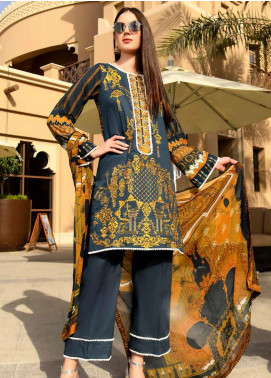 Banafsheh Embroidered Lawn Unstitched 3 Piece Suit BF20L 2 - Luxury Collection