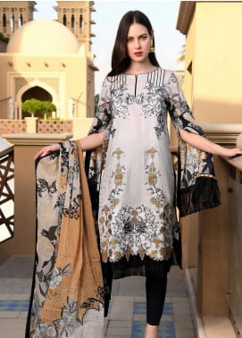 Banafsheh Embroidered Lawn Unstitched 3 Piece Suit BF20L 3 - Luxury Collection