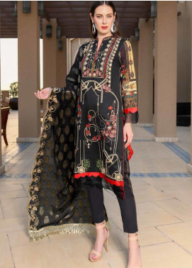 Banafsheh Embroidered Lawn Unstitched 3 Piece Suit BF20L 5 - Luxury Collection