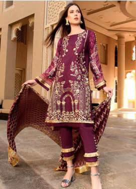 Banafsheh Embroidered Lawn Unstitched 3 Piece Suit BF20L 7 - Luxury Collection