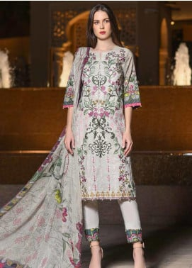 Banafsheh Embroidered Lawn Unstitched 3 Piece Suit BF20L 8 - Luxury Collection