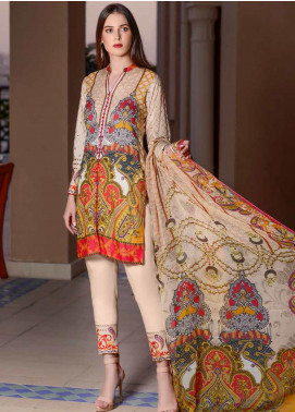 Banafsheh Embroidered Lawn Unstitched 3 Piece Suit BF20L 9 - Luxury Collection