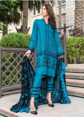 Banafsheh Embroidered Dhanak Unstitched 3 Piece Suit BF20SH 01 - Winter Collection
