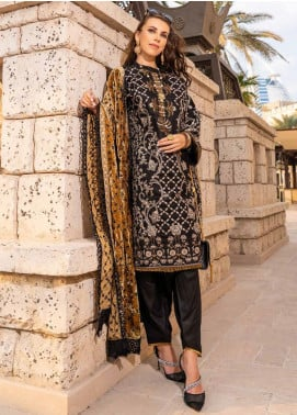 Banafsheh Embroidered Dhanak Unstitched 3 Piece Suit BF20SH 02 - Winter Collection