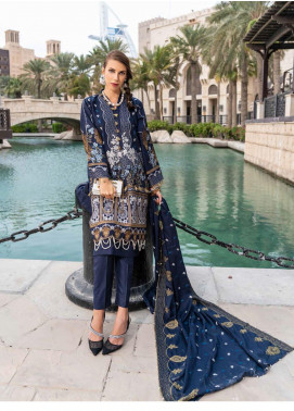 Banafsheh Embroidered Dhanak Unstitched 3 Piece Suit BF20SH 04 - Winter Collection
