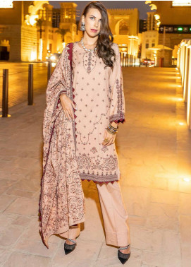 Banafsheh Embroidered Dhanak Unstitched 3 Piece Suit BF20SH 05 - Winter Collection