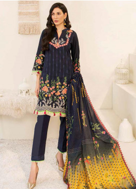 Banafsheh Embroidered Linen Unstitched 3 Piece Suit BF20W 01 - Winter Collection