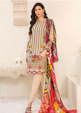 Banafsheh Embroidered Linen Unstitched 3 Piece Suit BF20W 02 - Winter Collection