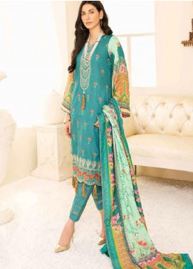 Banafsheh Embroidered Linen Unstitched 3 Piece Suit BF20W 04 - Winter Collection