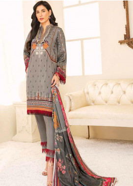 Banafsheh Embroidered Linen Unstitched 3 Piece Suit BF20W 05 - Winter Collection