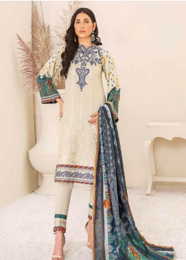 Banafsheh Embroidered Linen Unstitched 3 Piece Suit BF20W 06 - Winter Collection