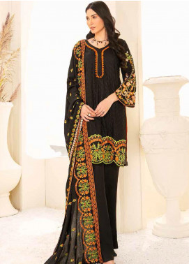 Banafsheh Embroidered Linen Unstitched 3 Piece Suit BF20W 07 - Winter Collection