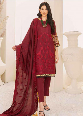 Banafsheh Embroidered Linen Unstitched 3 Piece Suit BF20W 08 - Winter Collection